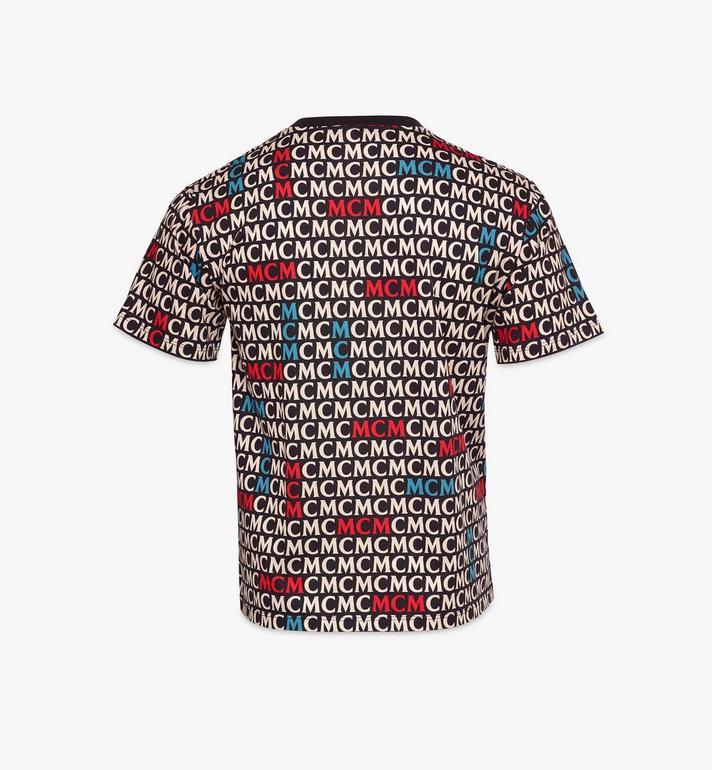 MCM T-Shirt mit Monogramm für Herren Black MHTAAMD01MW00L Alternate View 2