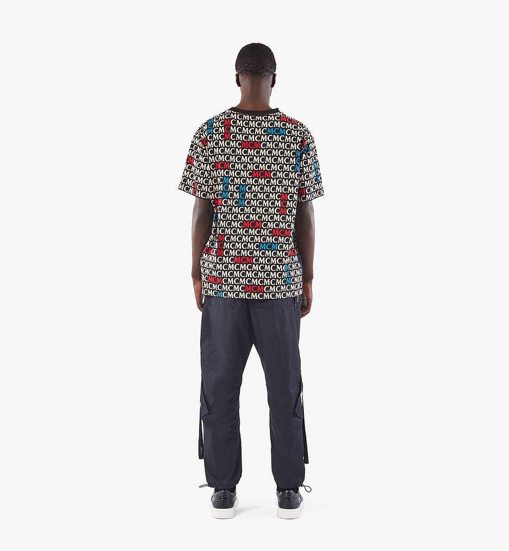 MCM Men's Monogram T-Shirt Black MHTAAMD01MW00L Alternate View 3
