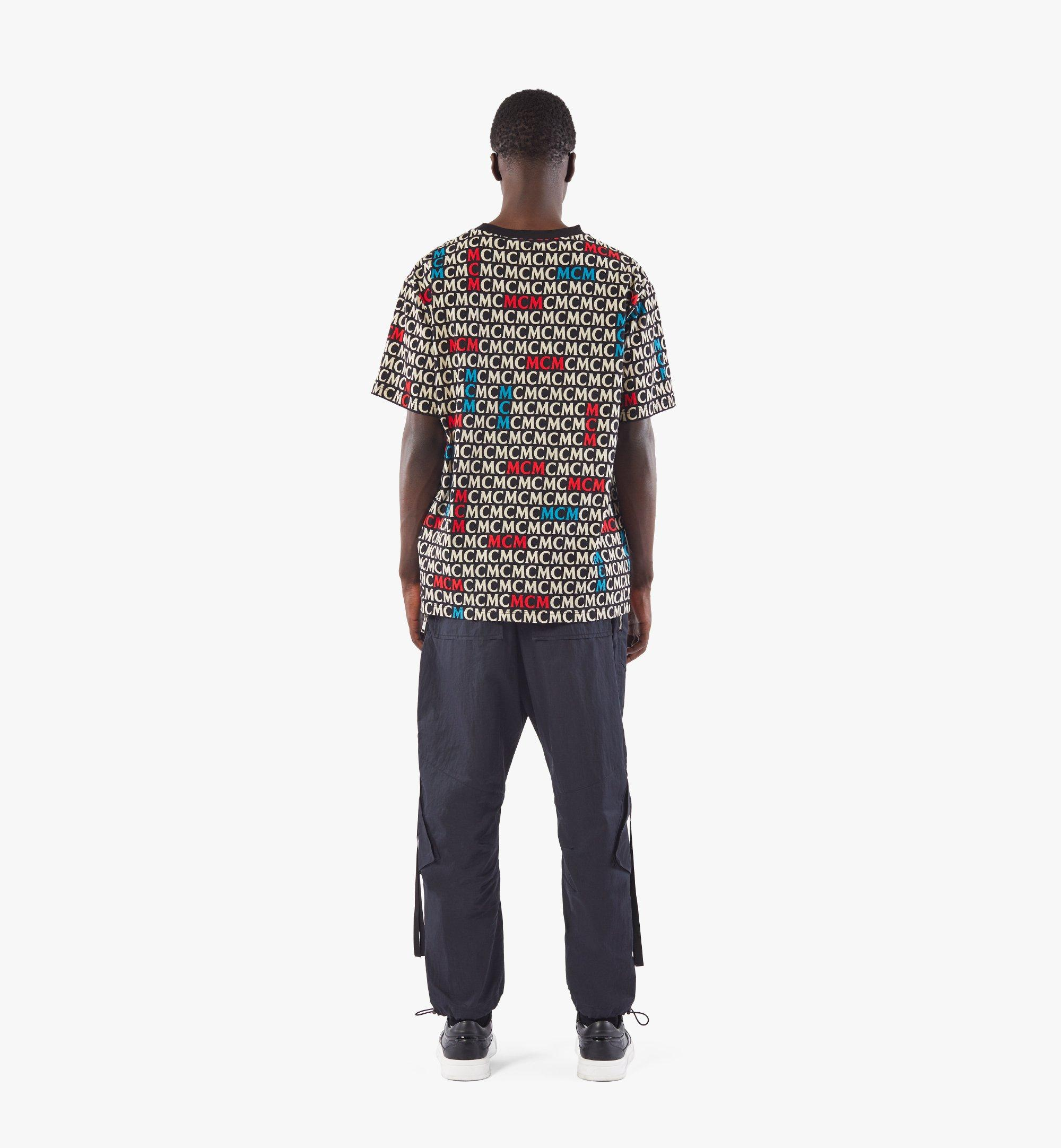 MCM Men's Monogram T-Shirt Black MHTAAMD01MW0XL Alternate View 3