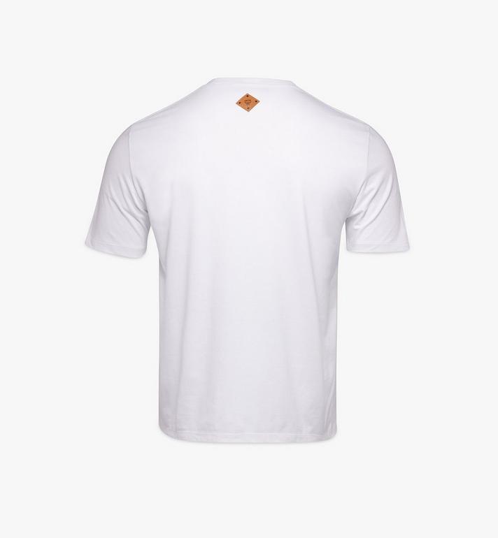 MCM 〈MCM 1976〉メンズ ロゴグリッチ Tシャツ White MHTAAMH01WT00L Alternate View 2