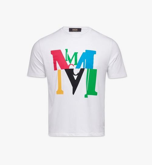 남성용 로고 글리치 티셔츠