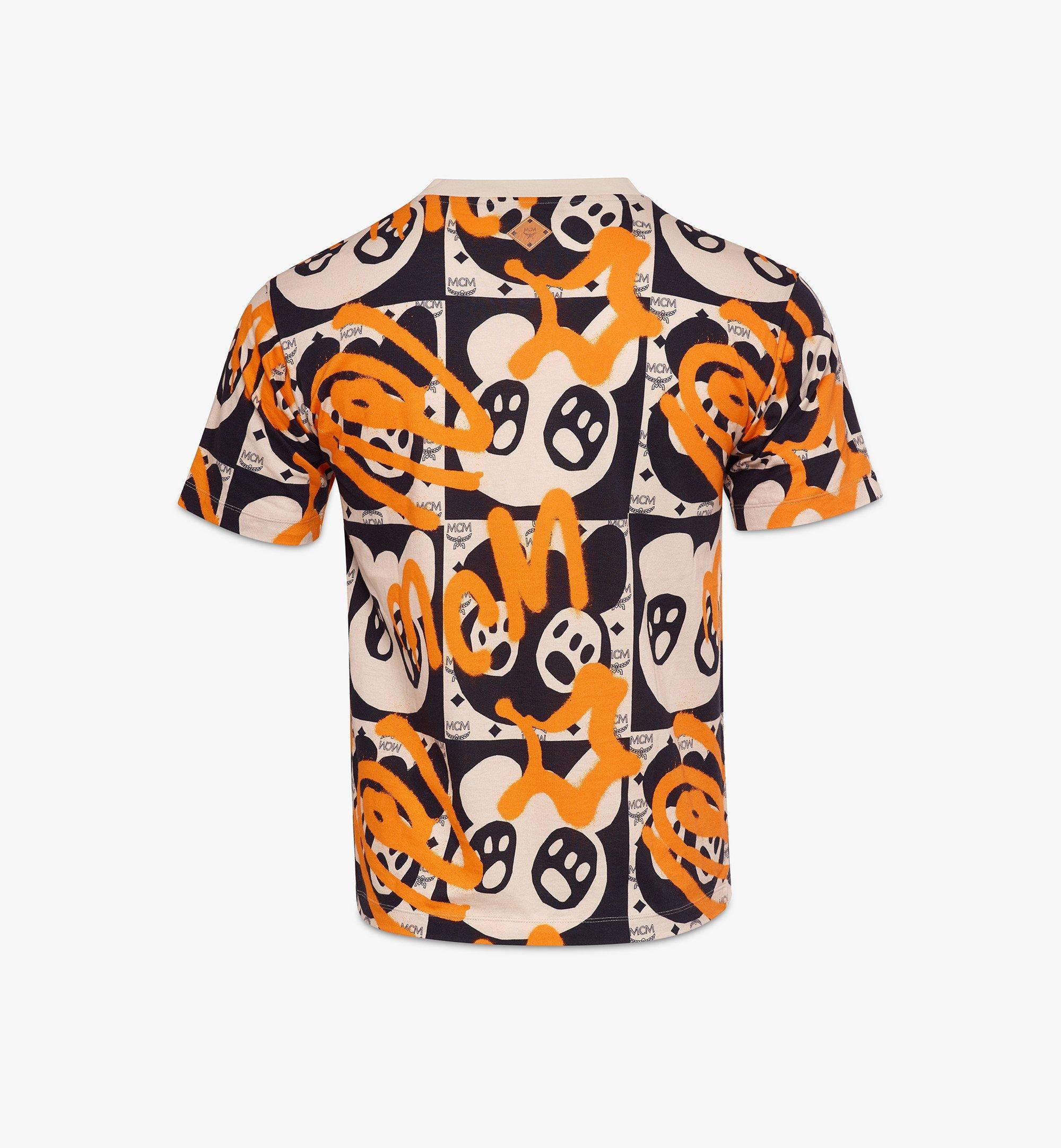 MCM Men's Bear Animation Print T-Shirt Multi MHTAAMM01I300L Alternate View 1
