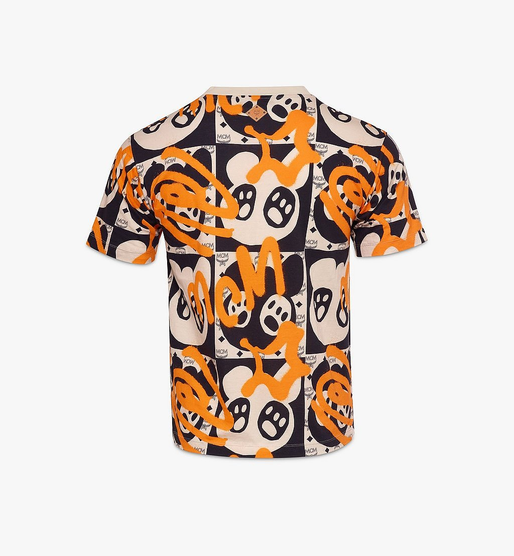 MCM Men's Bear Animation Print T-Shirt Multi MHTAAMM01I300S Alternate View 1