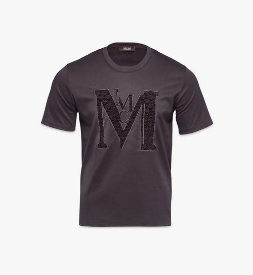 T-Shirt mit Samtlogo für Herren