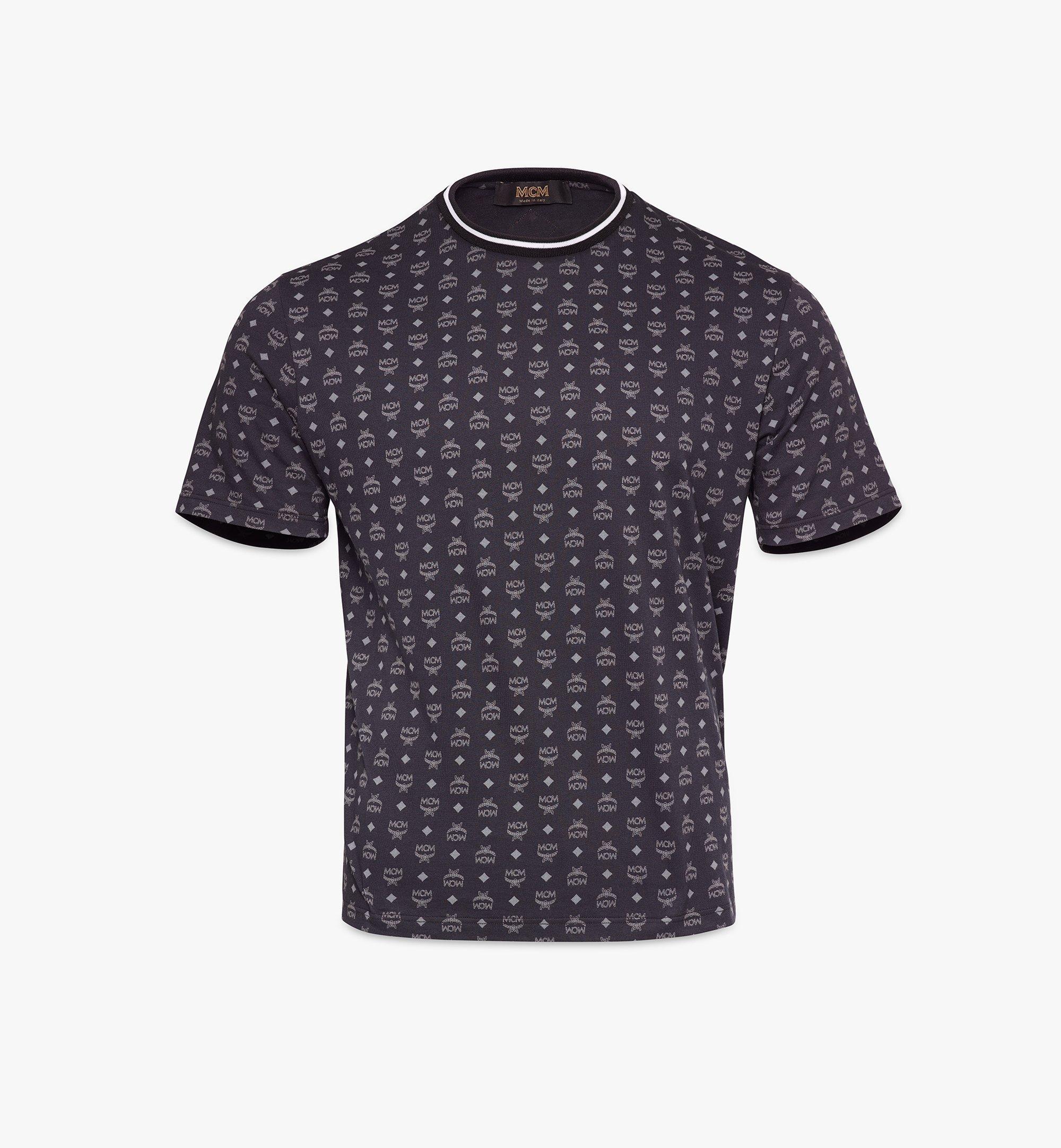 MCM T-Shirt mit Visetos-Monogramm für Herren Black MHTAAMM05BK00L Alternate View 1
