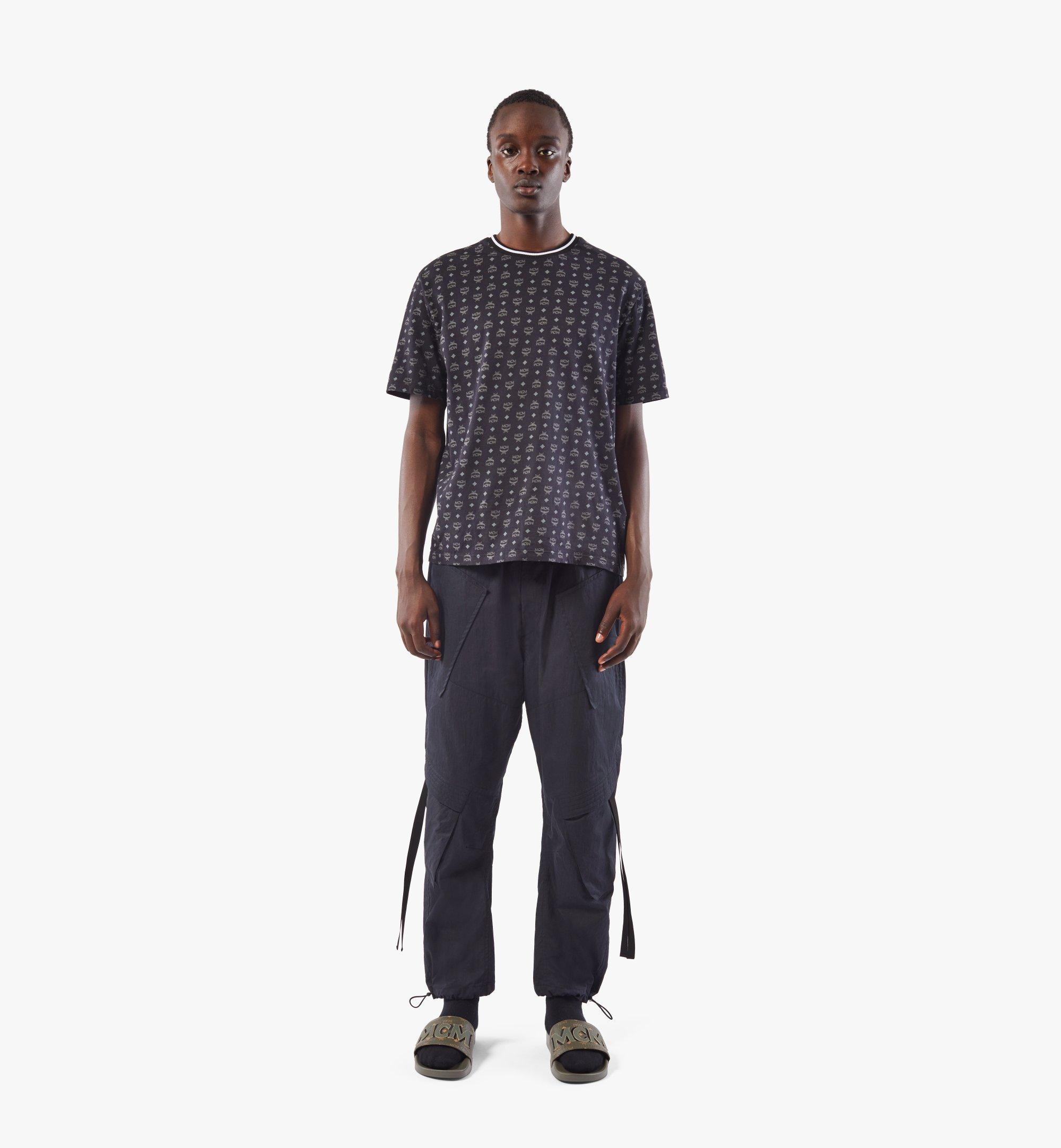 MCM Men's Visetos Print T-Shirt Black MHTAAMM05BK00L Alternate View 3