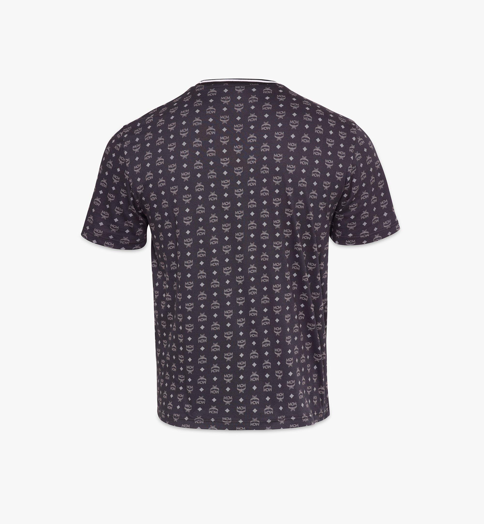MCM Men's Visetos Print T-Shirt Black MHTAAMM05BK00S Alternate View 1