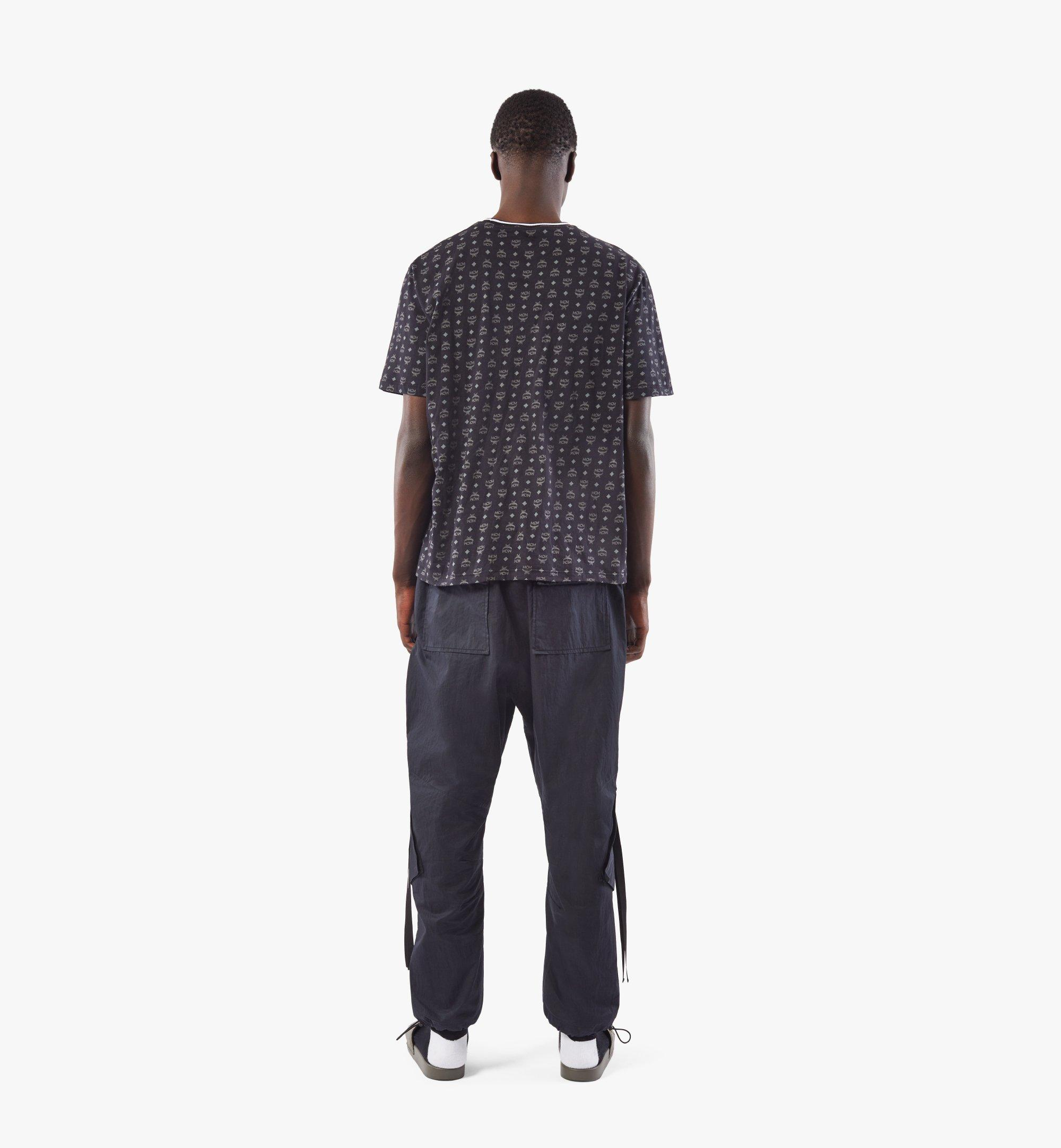 MCM Men's Visetos Print T-Shirt Black MHTAAMM05BK00S Alternate View 3