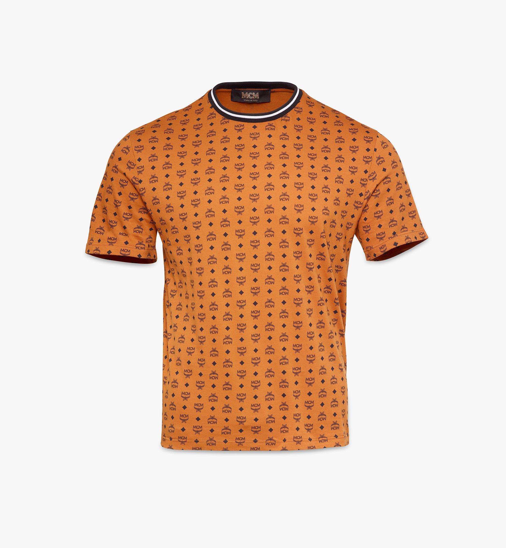 MCM T-Shirt mit Visetos-Monogramm für Herren White MHTAAMM05CO00L Alternate View 1