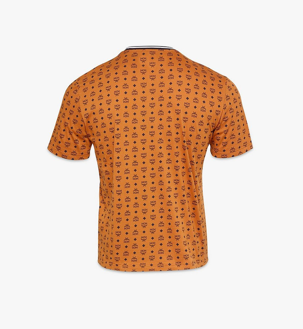 MCM Men's Visetos Print T-Shirt Cognac MHTAAMM05CO00L Alternate View 1
