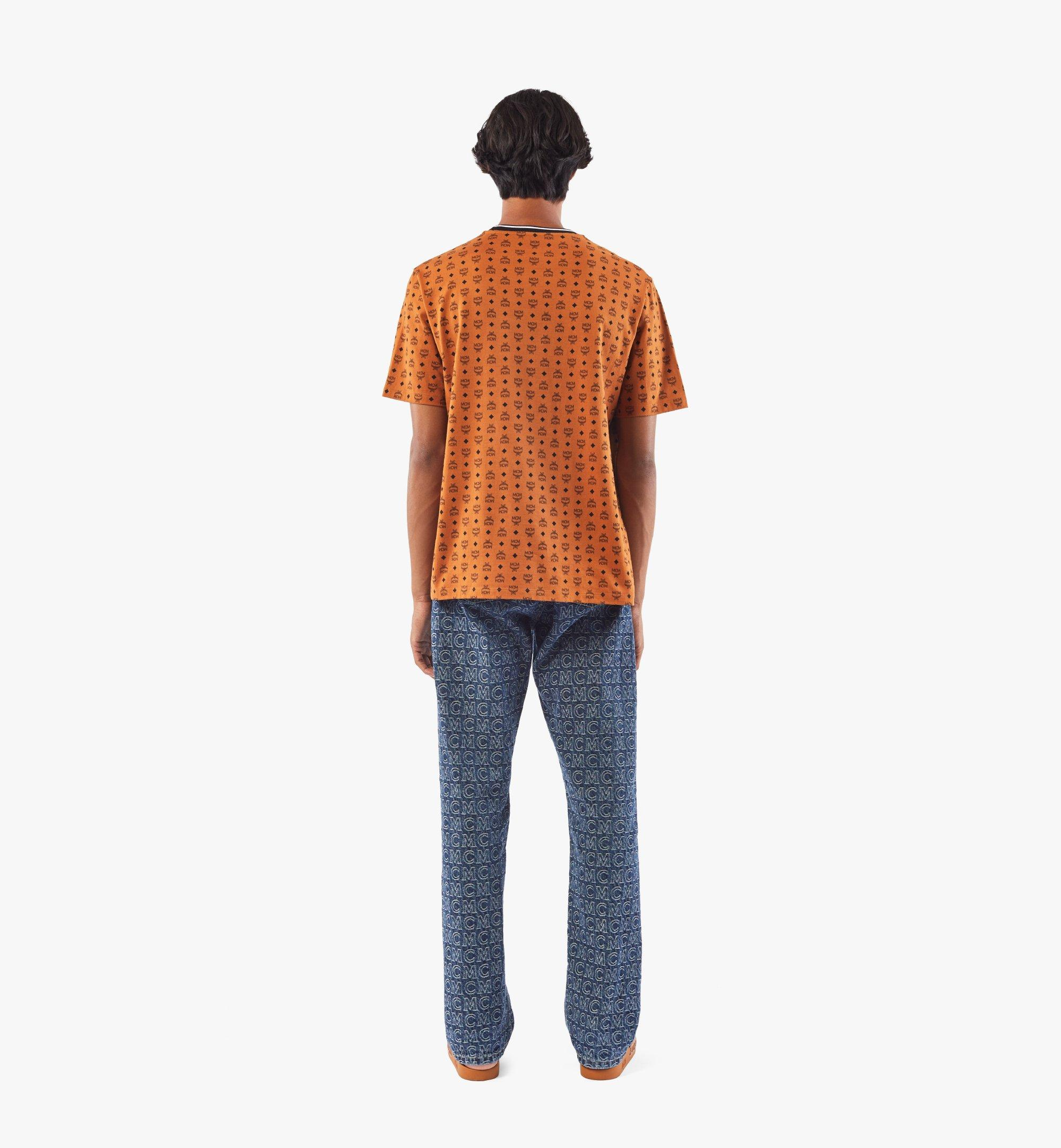 MCM Men's Visetos Print T-Shirt Cognac MHTAAMM05CO00M Alternate View 3