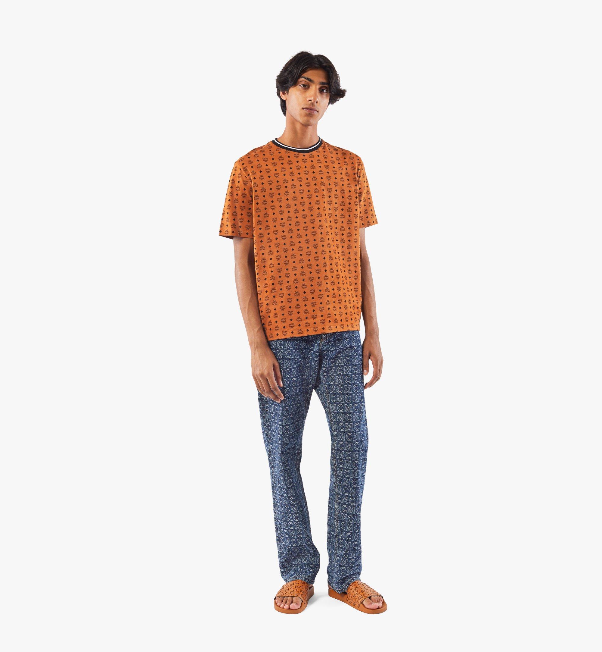MCM Men's Visetos Print T-Shirt Cognac MHTAAMM05CO00M Alternate View 2