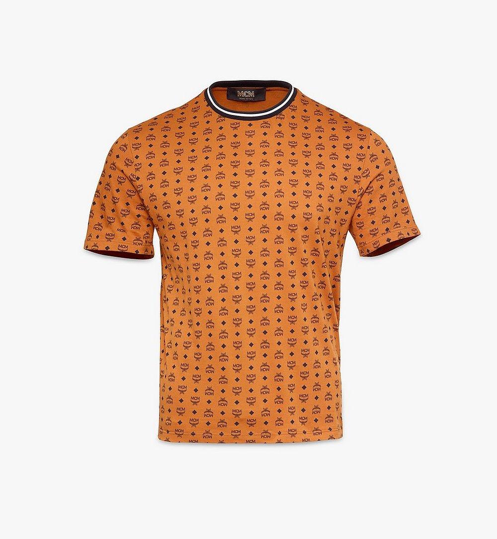 MCM Men's Visetos Print T-Shirt Cognac MHTAAMM05CO00S Alternate View 1
