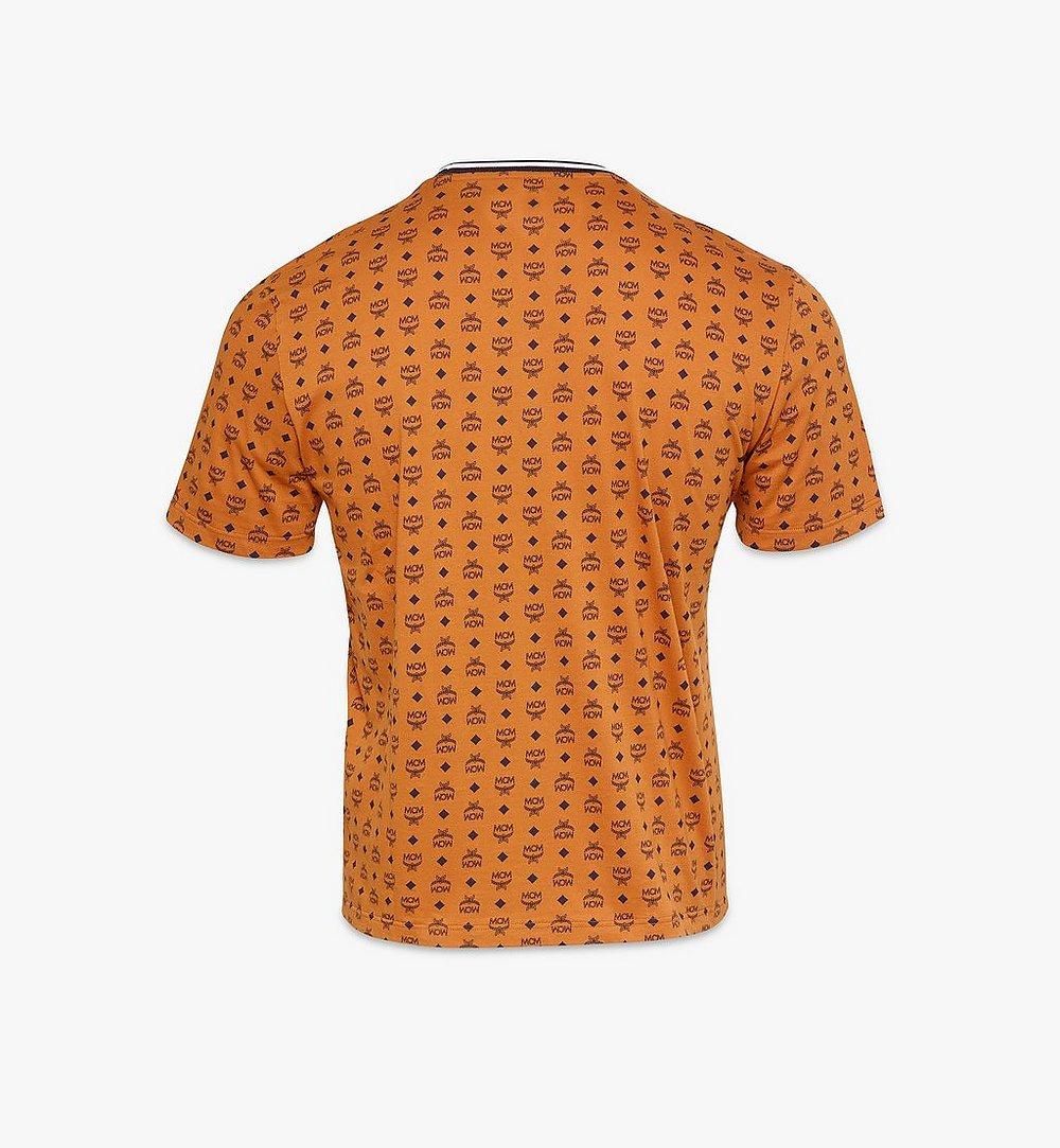 MCM Men's Visetos Print T-Shirt Cognac MHTAAMM05CO0XL Alternate View 1