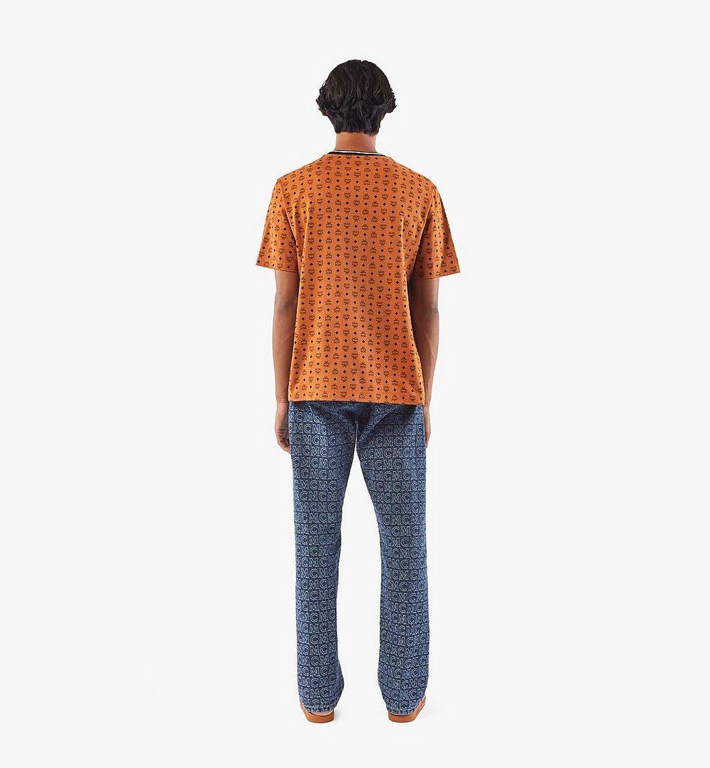 MCM Men's Visetos Print T-Shirt Cognac MHTAAMM05CO0XL Alternate View 3