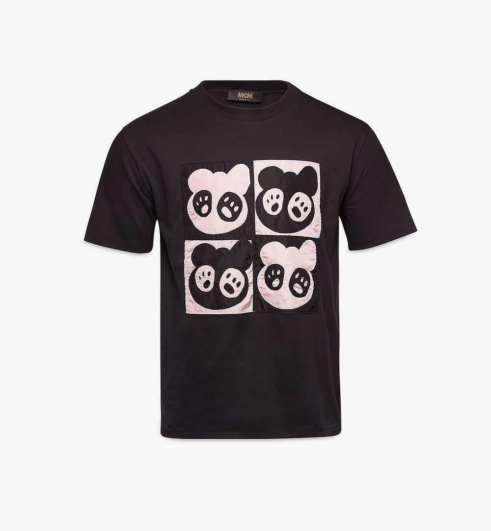 MCM Men's Bear Animation Patch T-shirt Black MHTAAMM07BK00L Alternate View 1