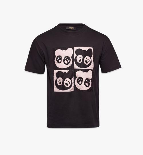 남성용 M 베어 애니메이션 패치 티셔츠