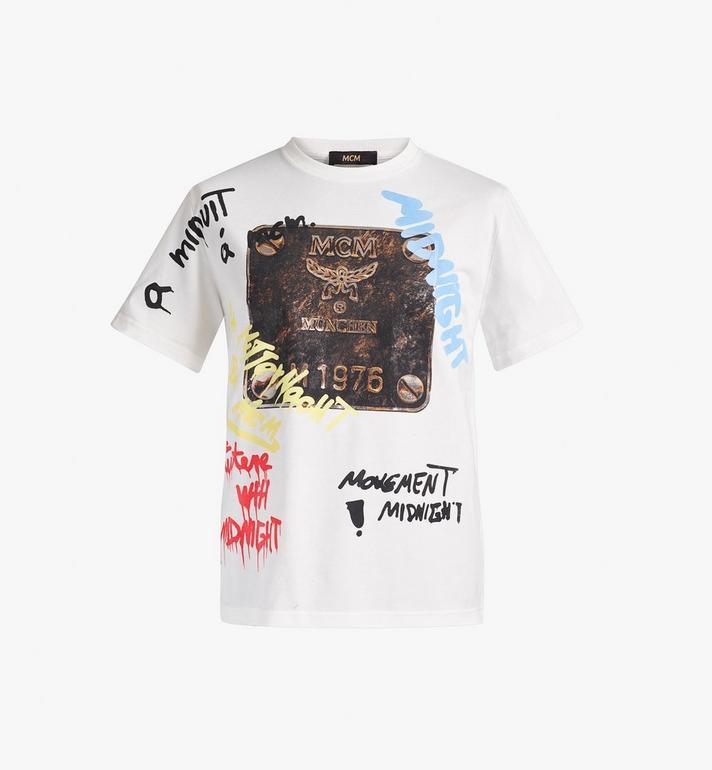 MCM Men's MCM x Midnight Brass Plate T-Shirt Alternate View