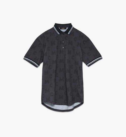 Men's Monogram Print Polo Shirt