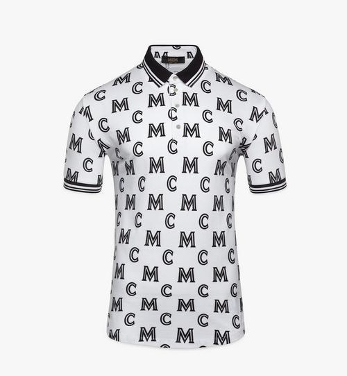 Men's Monogram Print Polo Shirt