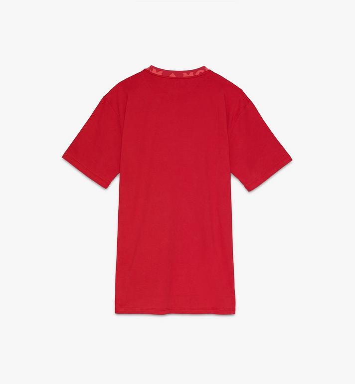 MCM Men's Logo Trim T-Shirt Red MHTASMM03R400L Alternate View 2