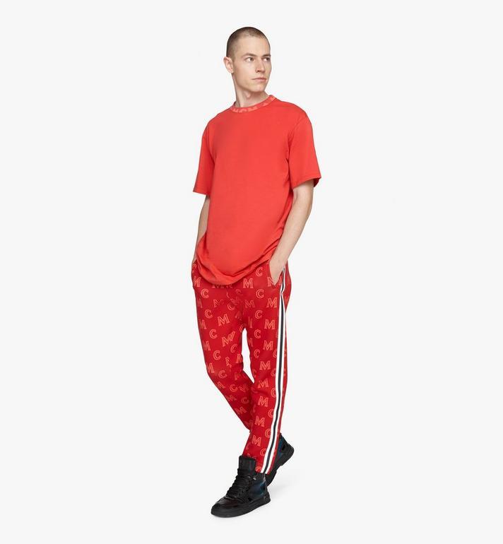 MCM 남성용 로고 트림 티셔츠 Red MHTASMM03R400M Alternate View 3