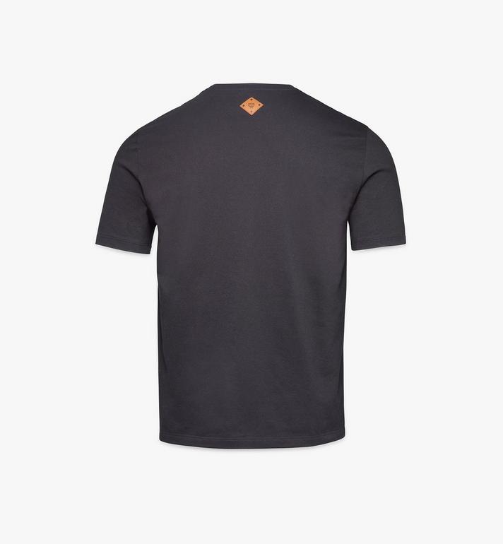 MCM Klassisches Herren T-Shirt mit Logo Black MHTASMM04BK00L Alternate View 2