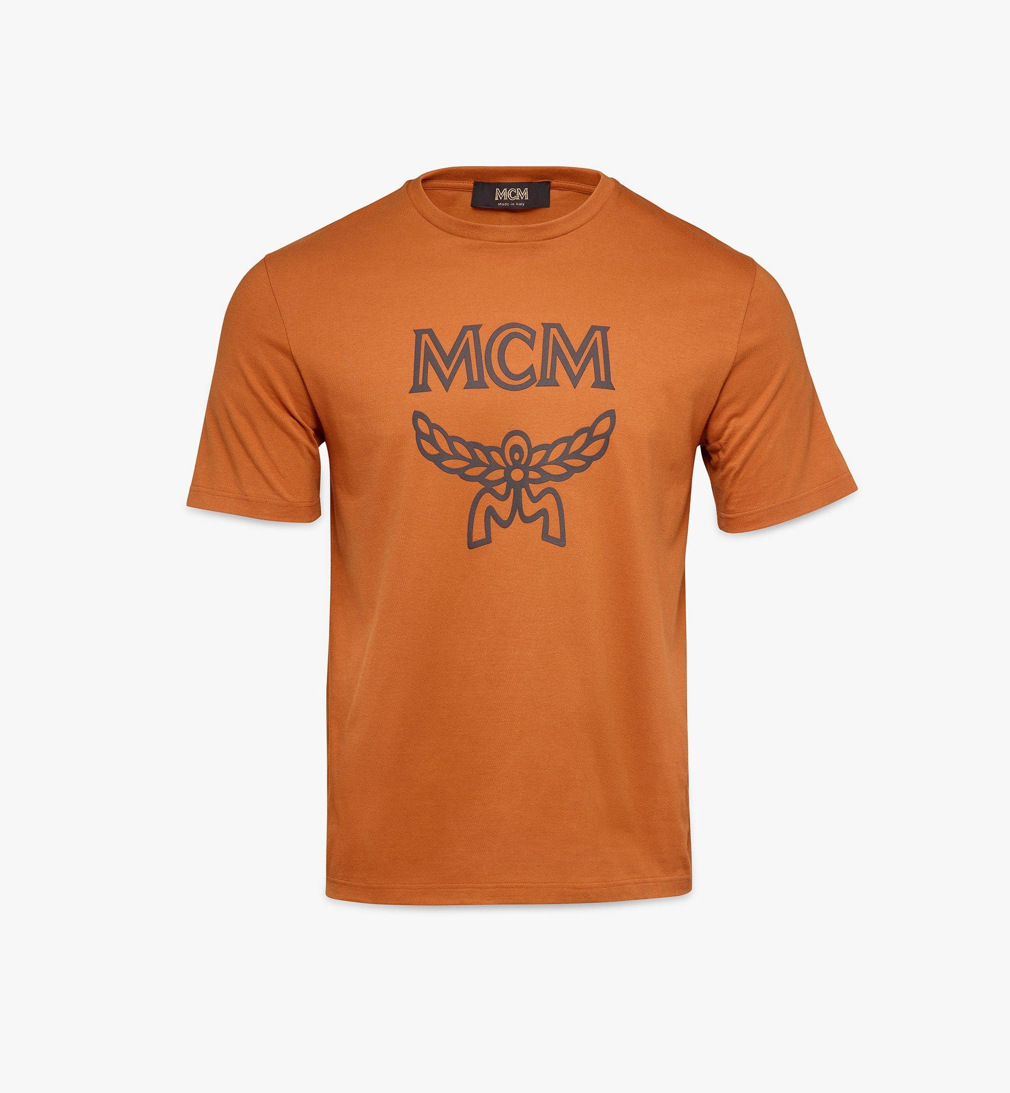 MCM Men's Classic Logo T-Shirt Brown MHTASMM04N400L Alternate View 1