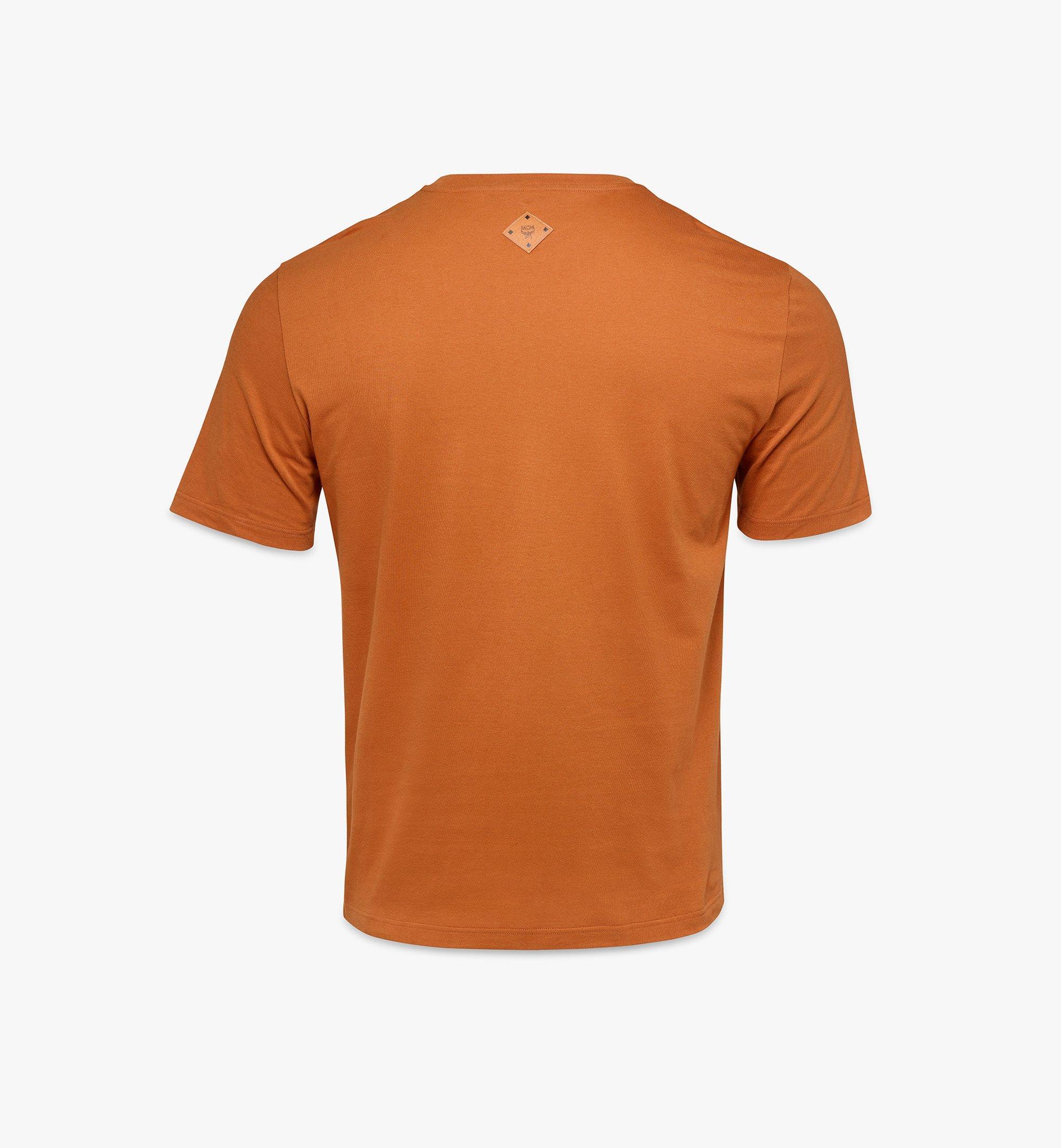 MCM Men's Classic Logo T-Shirt Brown MHTASMM04N400S Alternate View 1