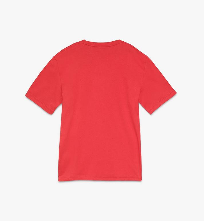 MCM Men's Logo T-Shirt Red MHTASMM04R400L Alternate View 2