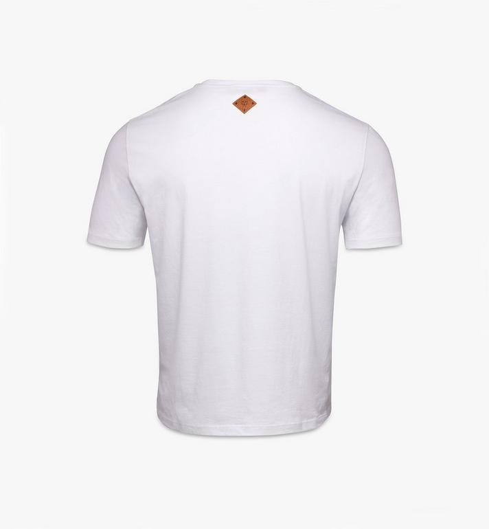 MCM 남성용 클래식 로고 티셔츠 White MHTASMM04R600L Alternate View 2
