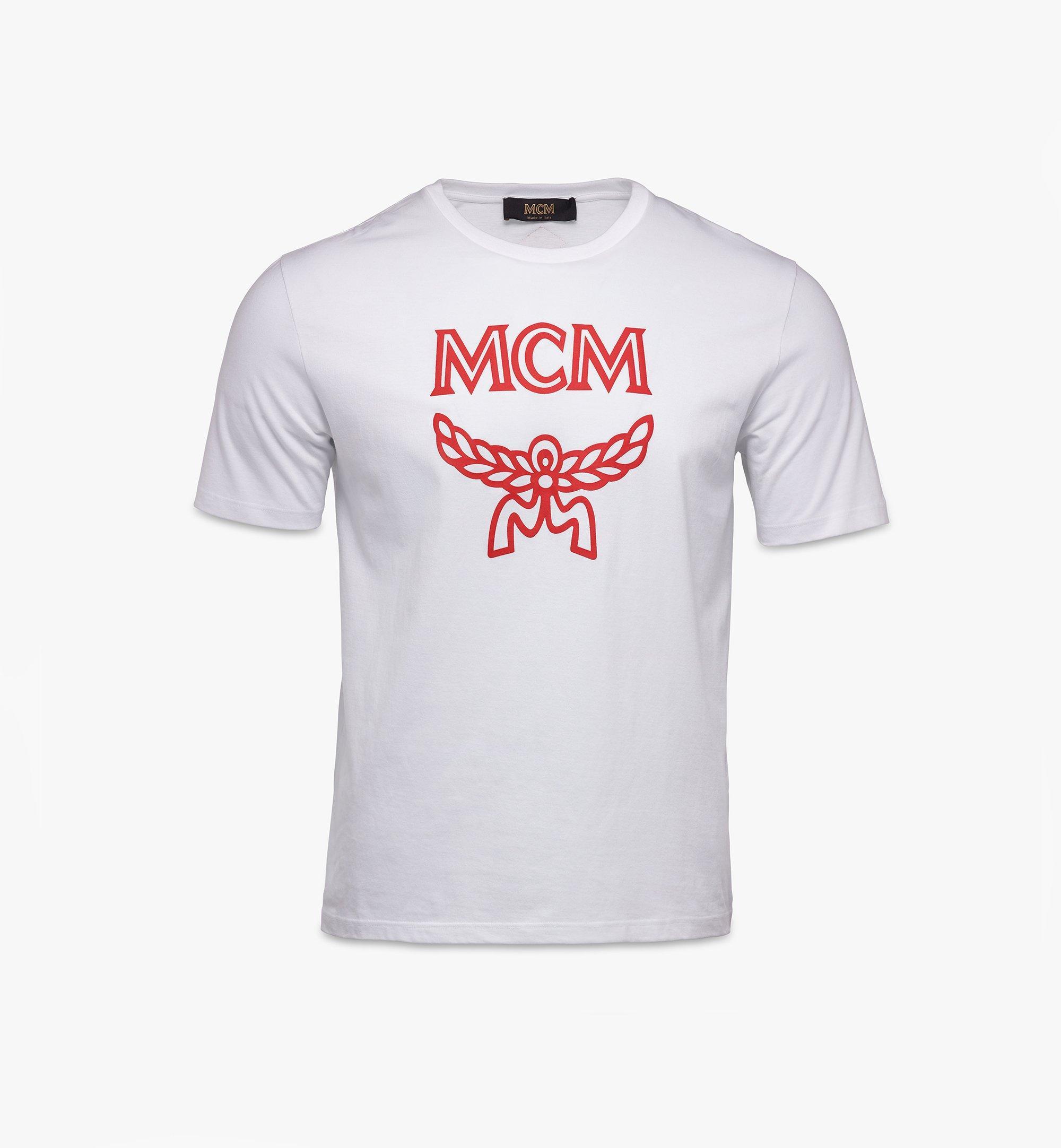MCM Men's Classic Logo T-Shirt White MHTASMM04R600M Alternate View 1