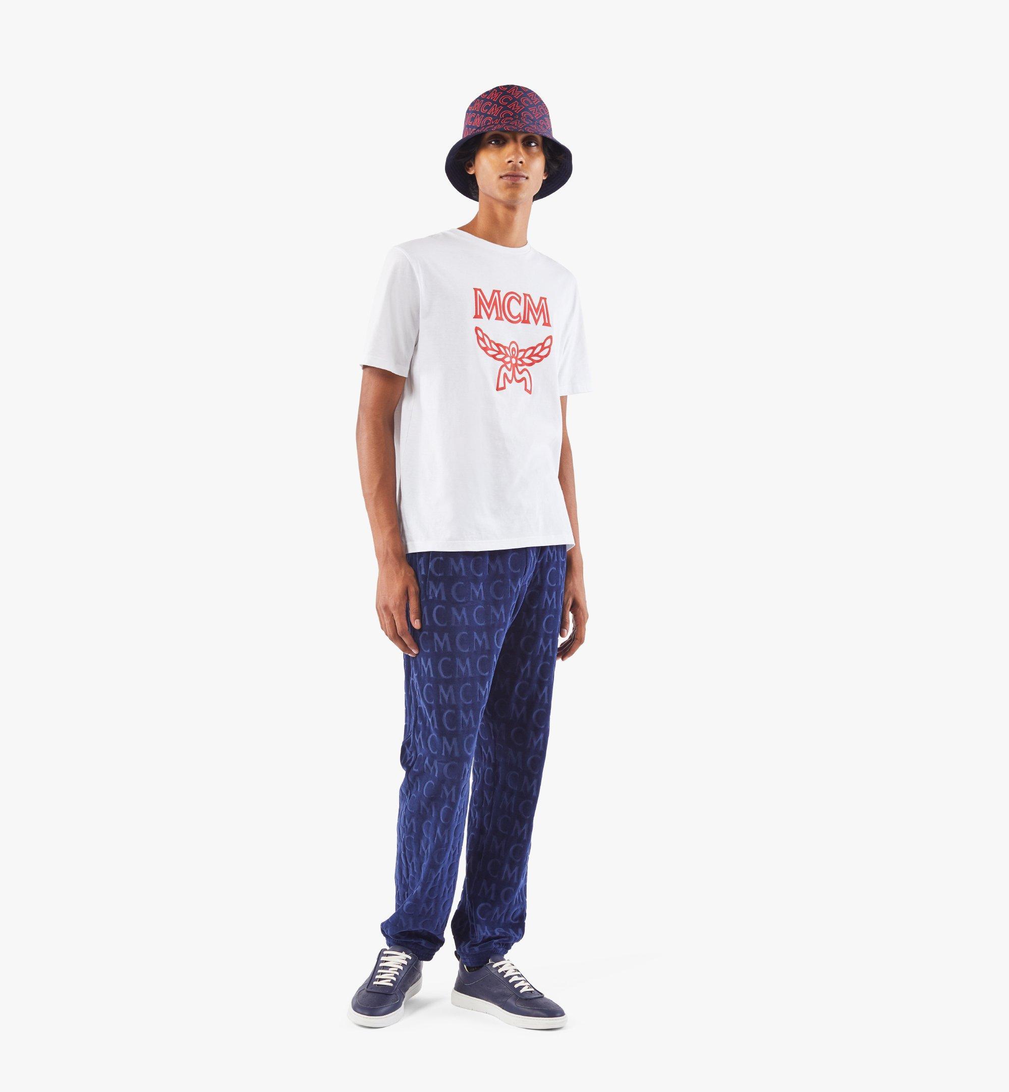 MCM Men's Classic Logo T-Shirt White MHTASMM04R600M Alternate View 2
