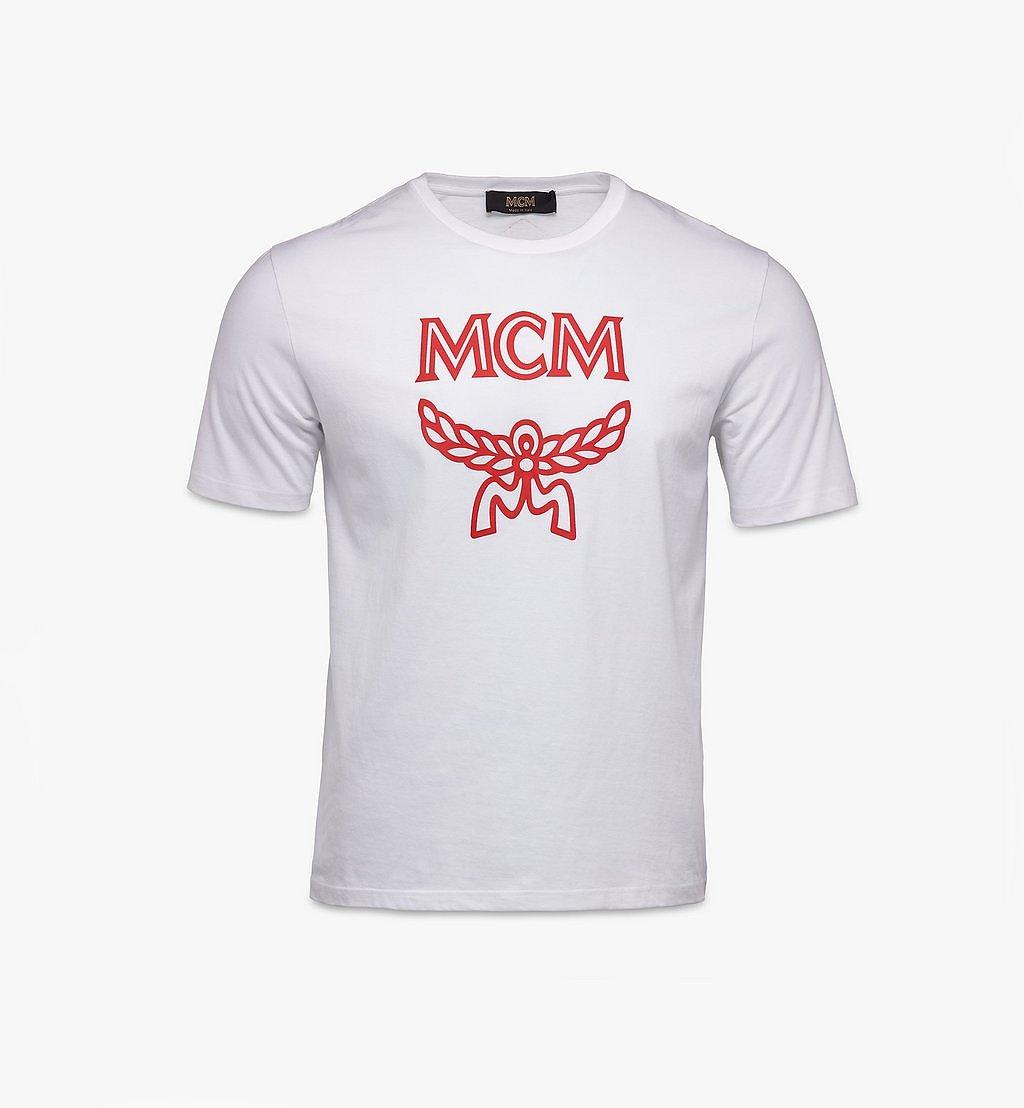 MCM Men's Classic Logo T-Shirt White MHTASMM04R60XL Alternate View 1
