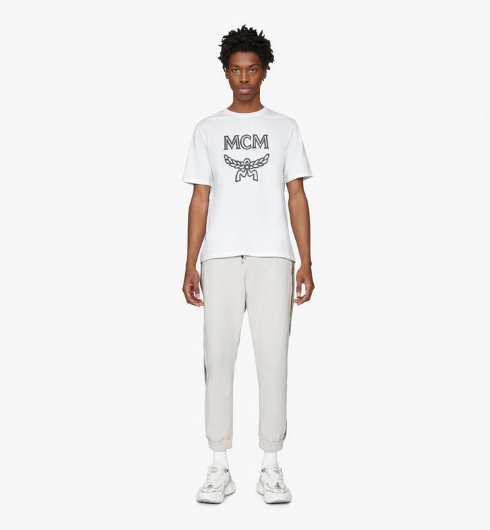 MCM Men's Logo T-Shirt White MHTASMM04WT00L Alternate View 3