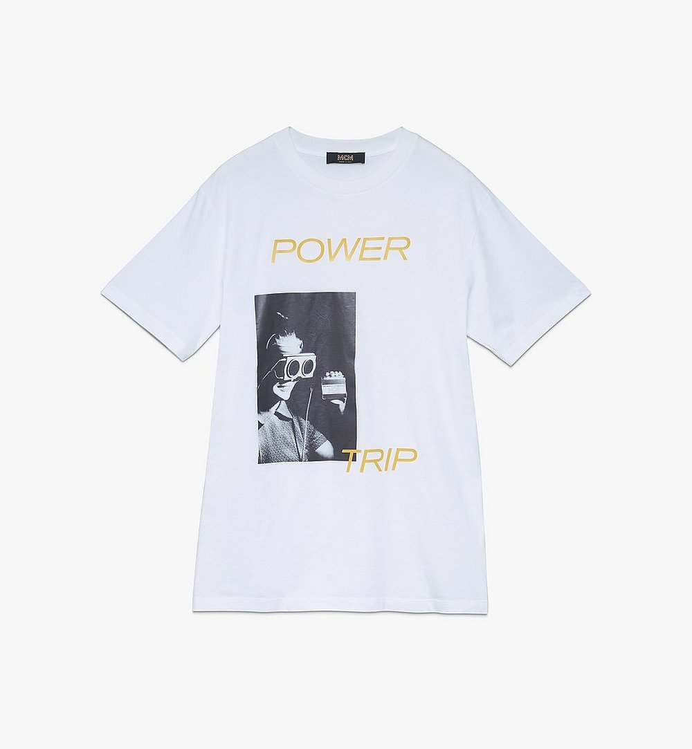 MCM Men's 1976 Power Trip T-Shirt White MHTASMV02WT00L Alternate View 1