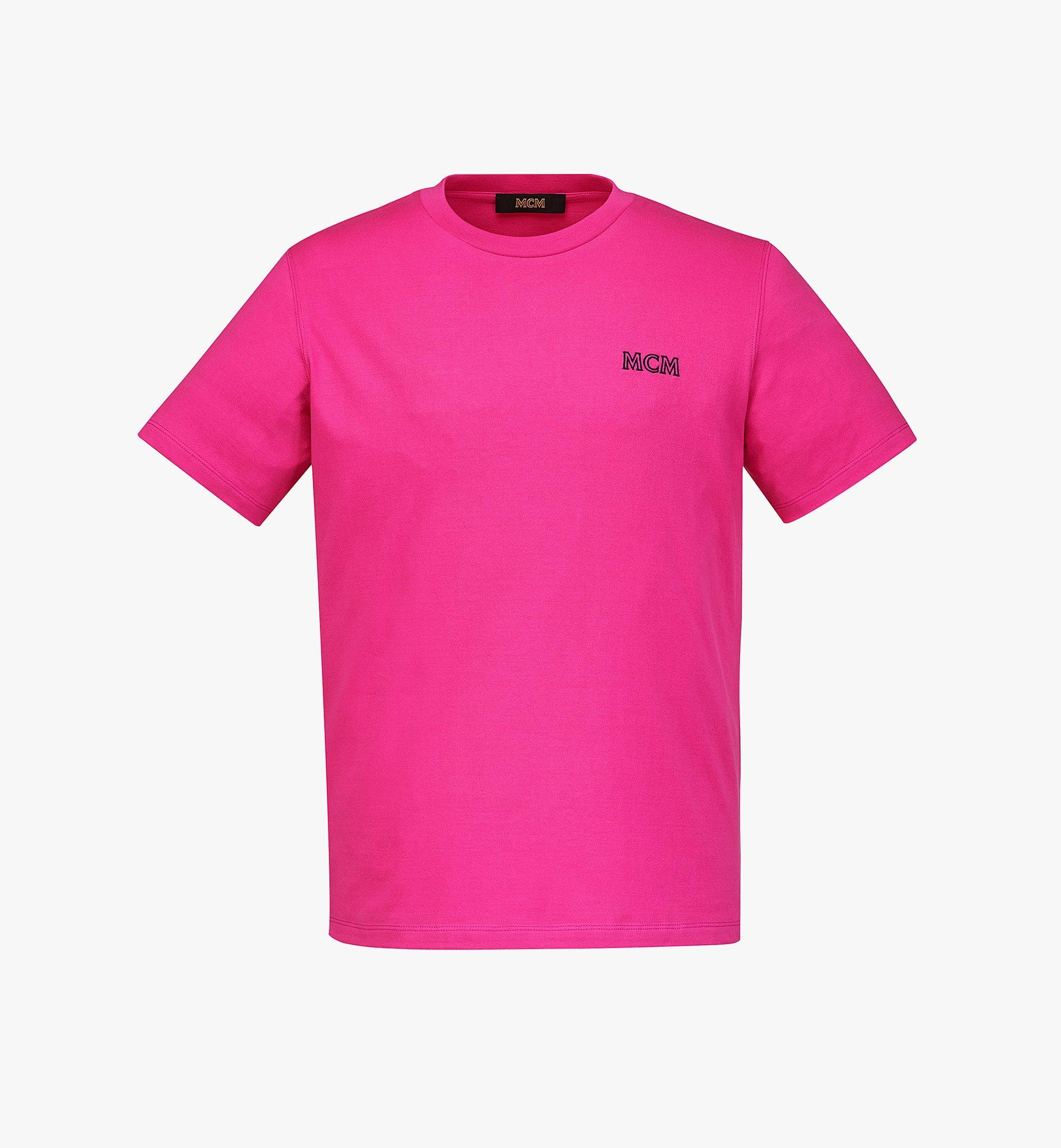 MCM Men's MCM Essentials Logo T-Shirt in Organic Cotton Pink MHTBABC01QW00S Alternate View 1