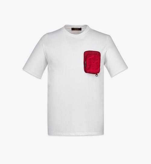 남성용 나일론 지퍼 포켓 오가닉 코튼 티셔츠