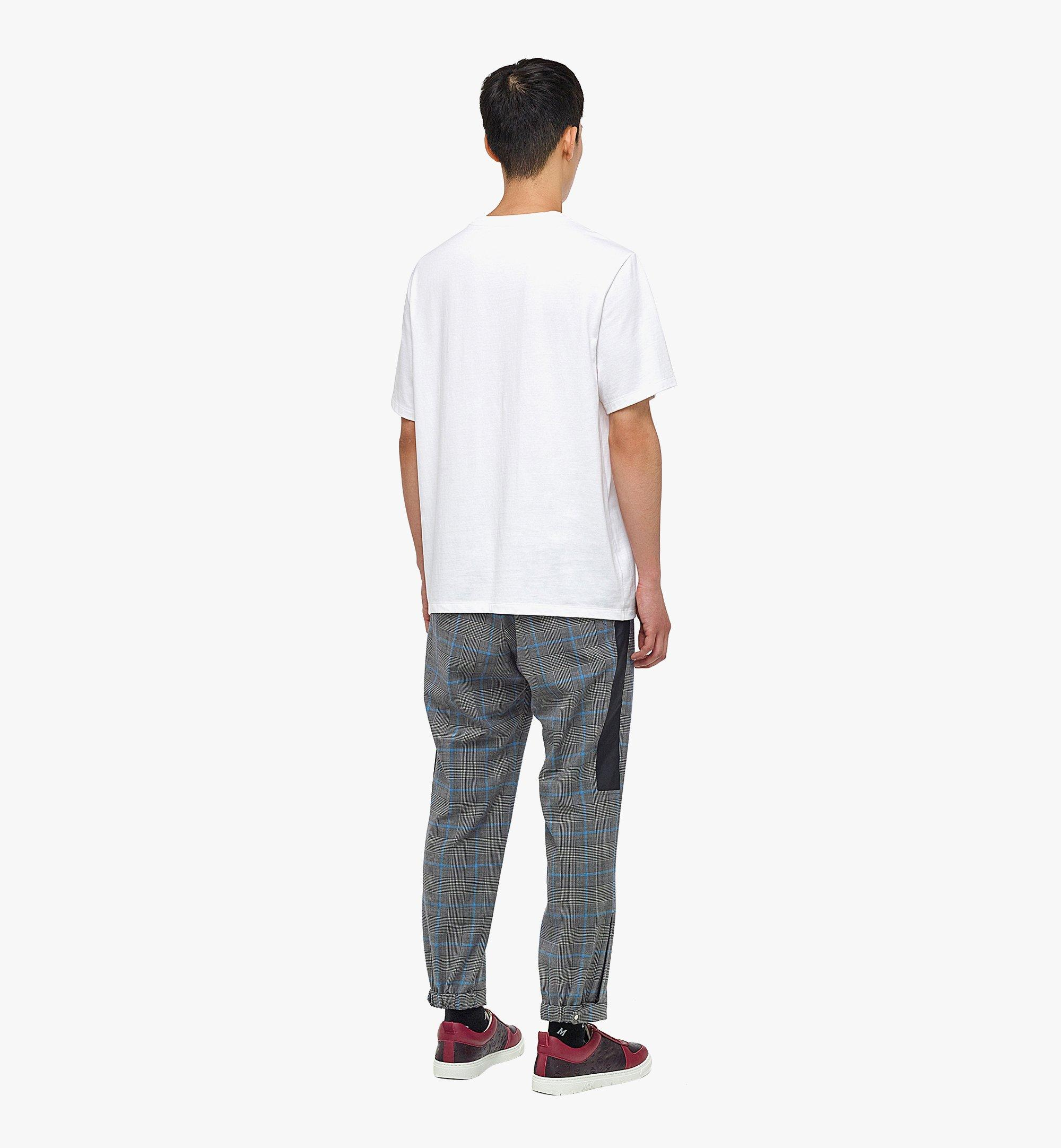 MCM Men's Organic Cotton T-Shirt with Nylon Zip Pocket White MHTBAMM02WD00L Alternate View 1