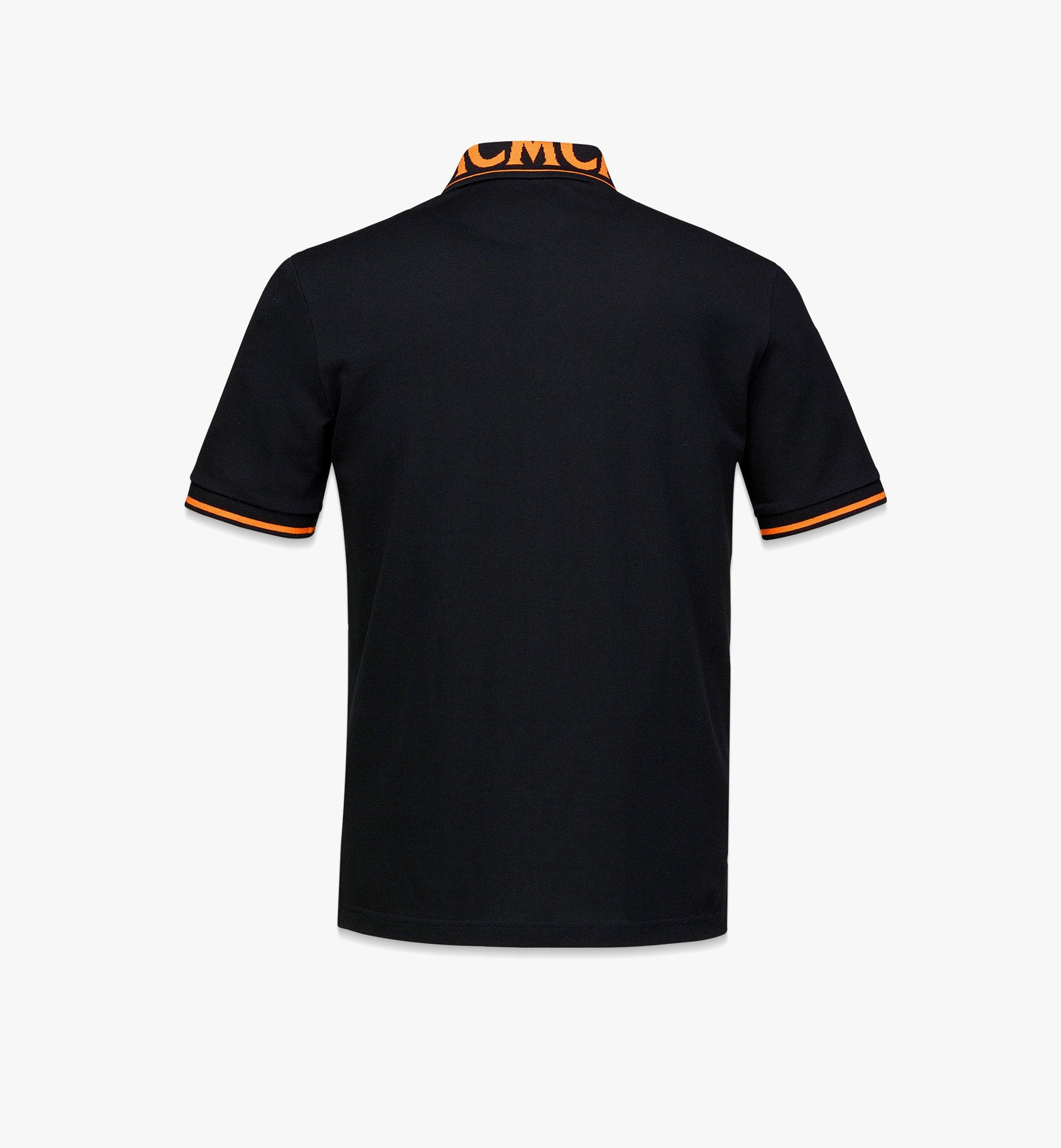 MCM Men's Logo Polo Shirt in Cotton Piqué Orange MHTBAMM04O900L Alternate View 1