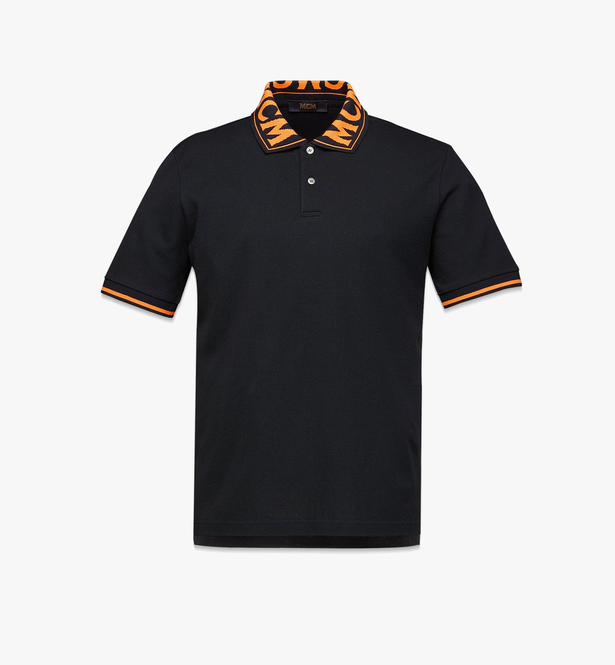 MCM Men's Logo Polo Shirt in Cotton Piqué Orange MHTBAMM04O90XL Alternate View 1