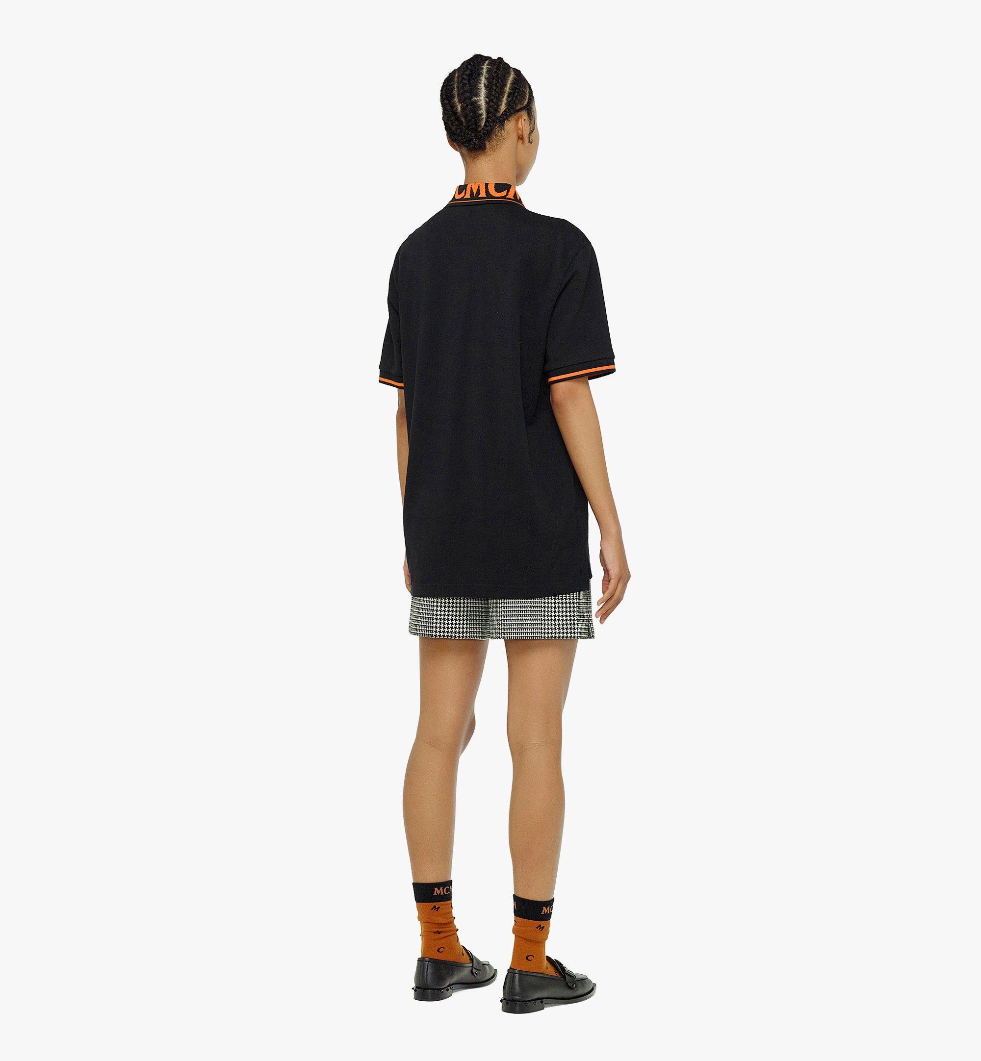 MCM Men's Logo Polo Shirt in Cotton Piqué Orange MHTBAMM04O90XL Alternate View 4