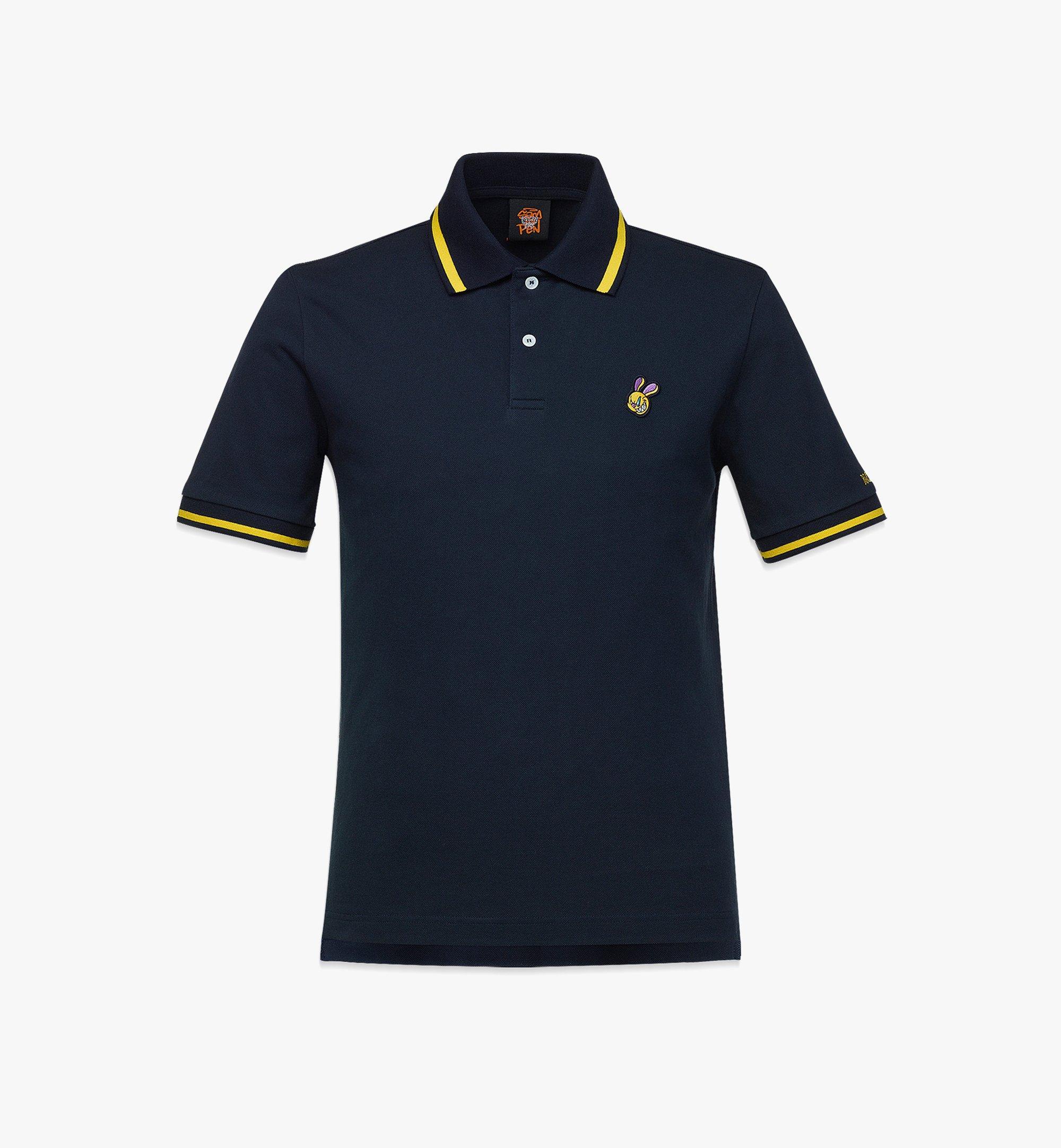 MCM MCM x SAMBYPEN Men's Polo Shirt Blue MHTBASP01VY00L Alternate View 1
