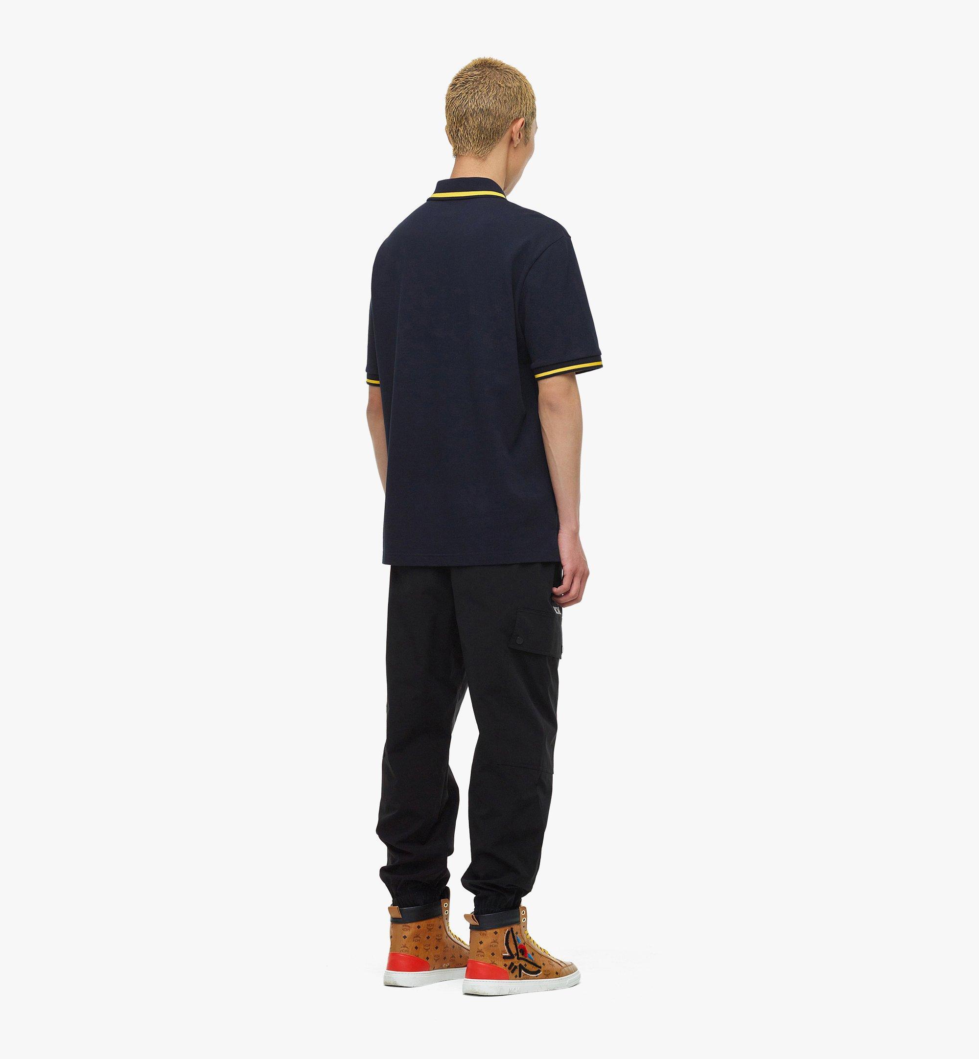 MCM MCM x SAMBYPEN Men's Polo Shirt Blue MHTBASP01VY00L Alternate View 2