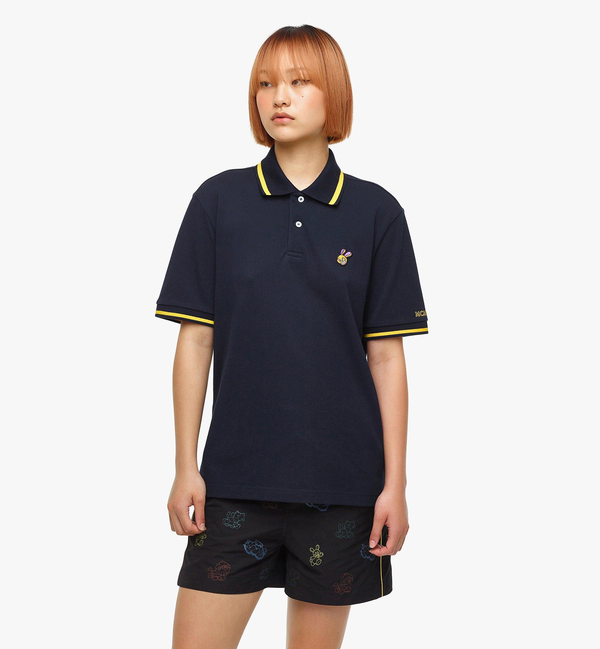 MCM MCM x SAMBYPEN Men's Polo Shirt Blue MHTBASP01VY00L Alternate View 5