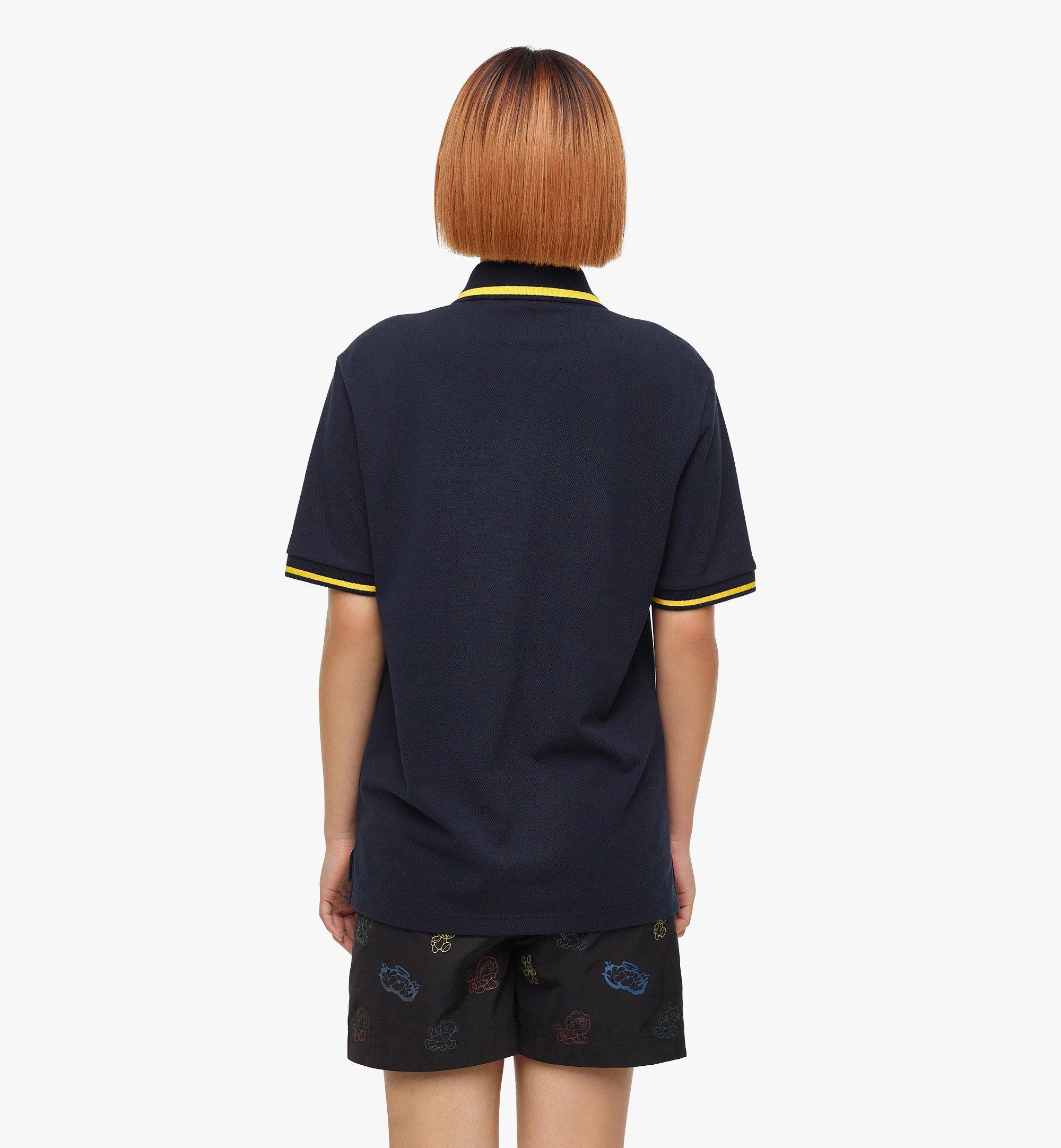 MCM MCM x SAMBYPEN Men's Polo Shirt Blue MHTBASP01VY00L Alternate View 6