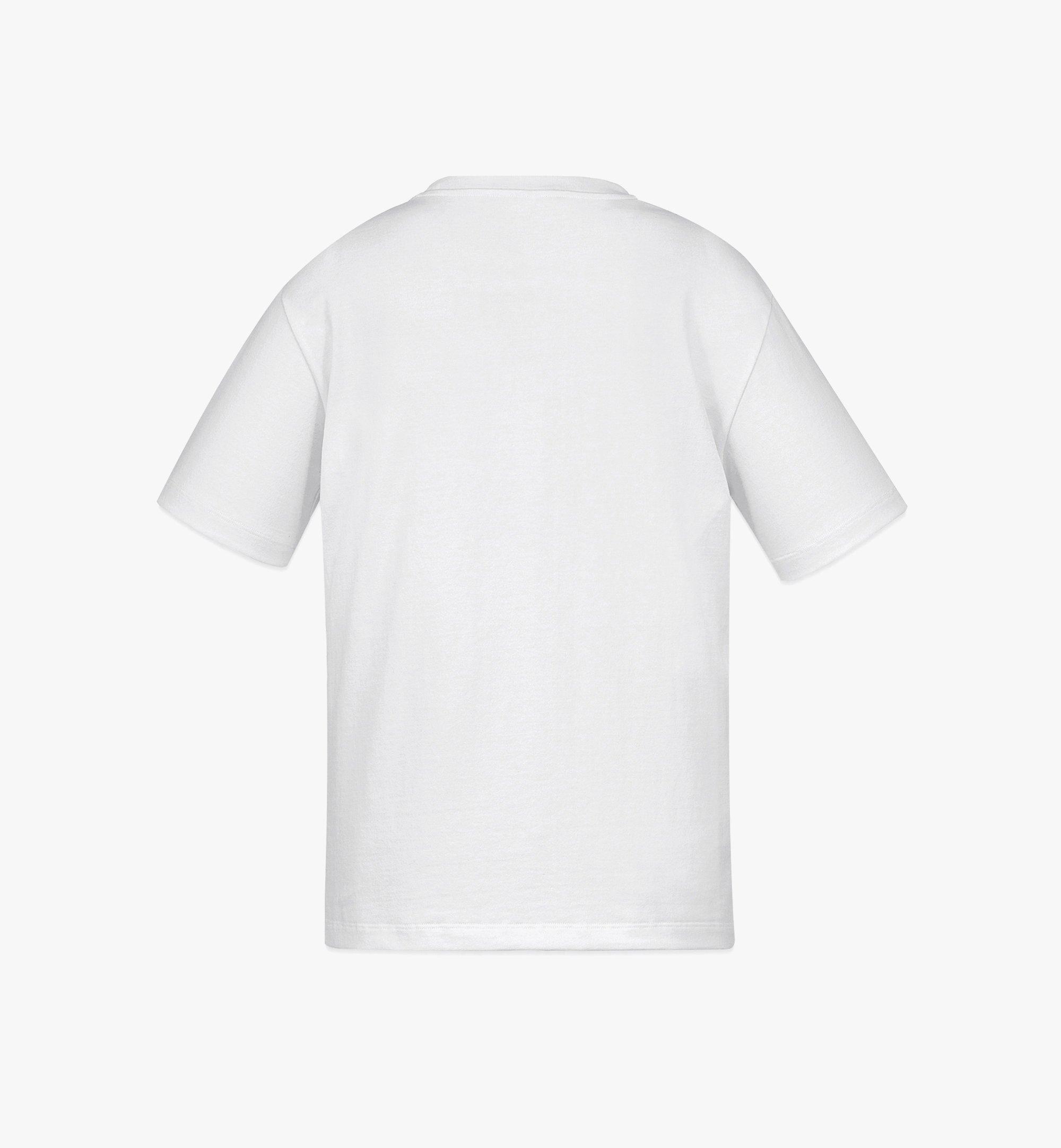 MCM MCM x SAMBYPEN Logo Print T-Shirt White MHTBASP02WD00L Alternate View 1