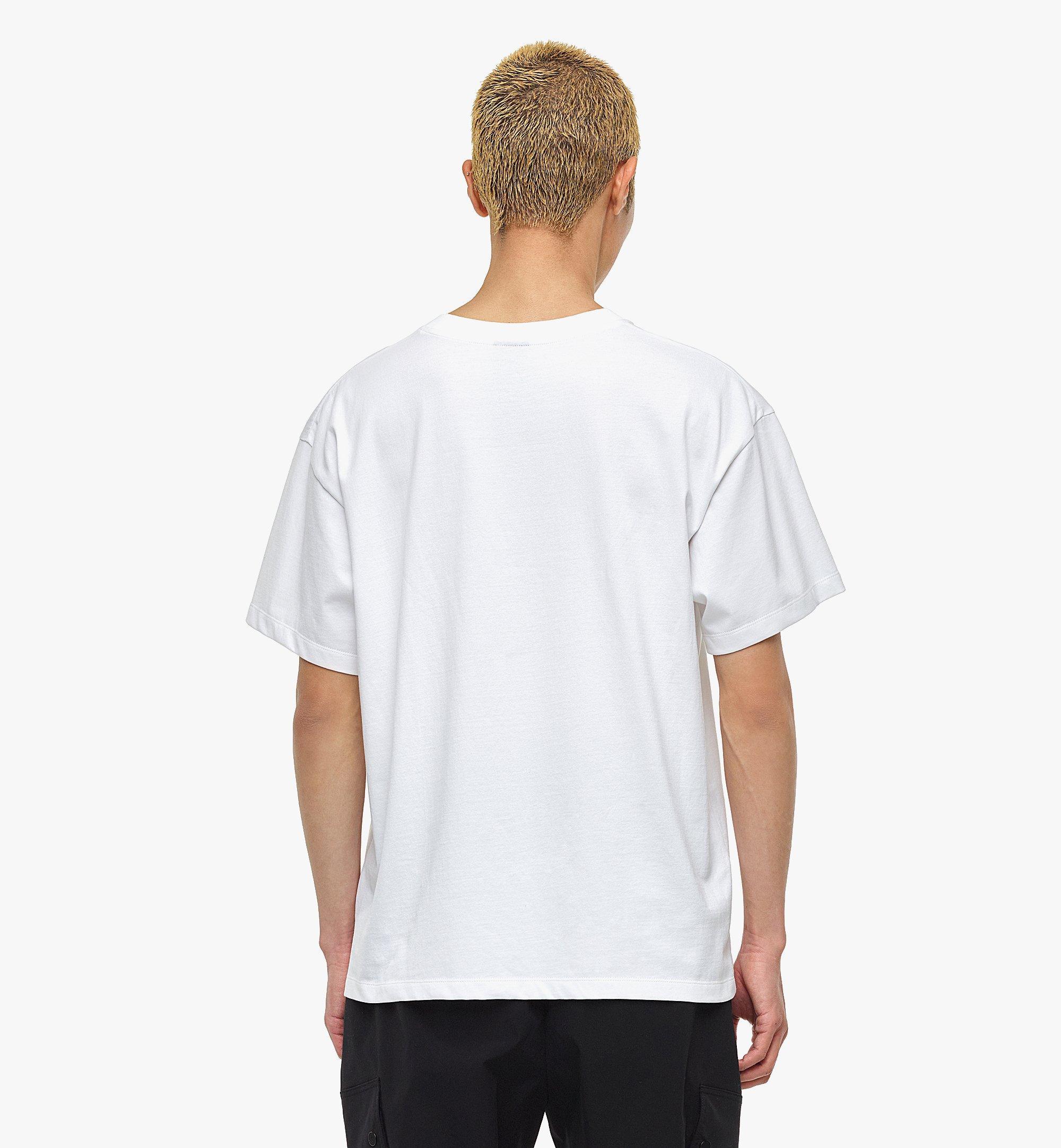 MCM MCM x SAMBYPEN Logo Print T-Shirt White MHTBASP02WD00L Alternate View 4