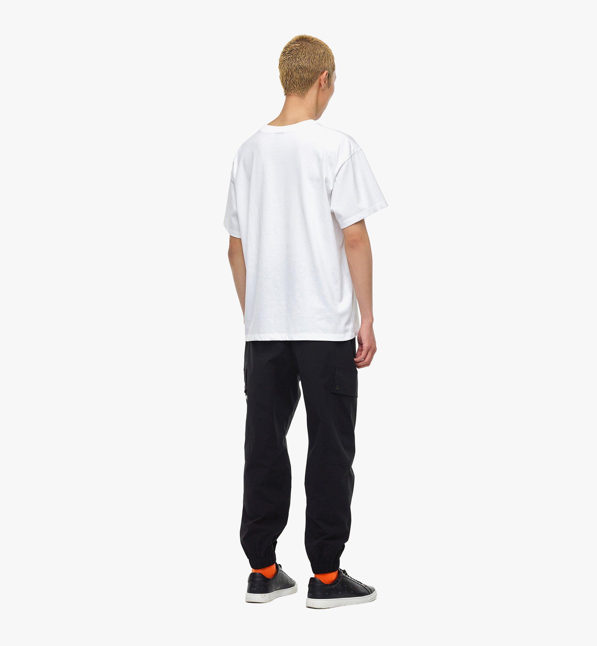 MCM MCM x SAMBYPEN T-Shirt mit gedrucktem Logo White MHTBASP02WD00M Noch mehr sehen 2