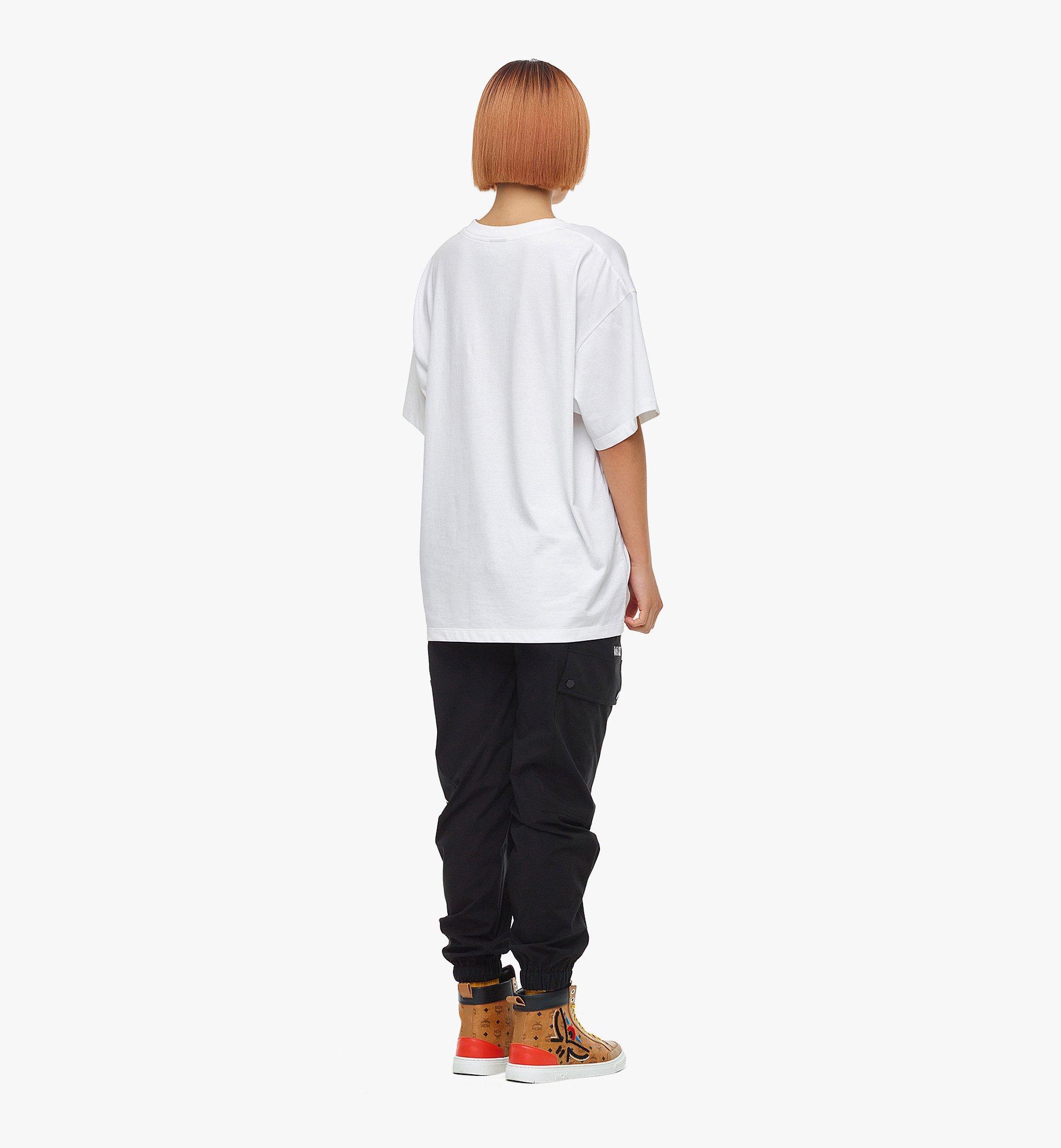 MCM MCM x SAMBYPEN T-Shirt mit gedrucktem Logo White MHTBASP02WD00M Noch mehr sehen 6